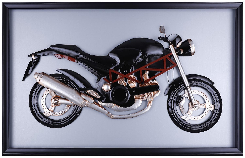 Décoratif et Occasionnel - Moto noire classique - 50,25 po x 31,75 po