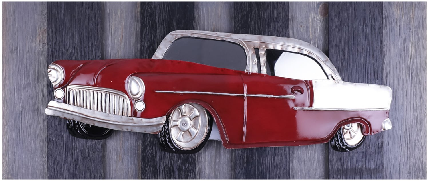 "Red Classic on Wood – 31"" x 11"""