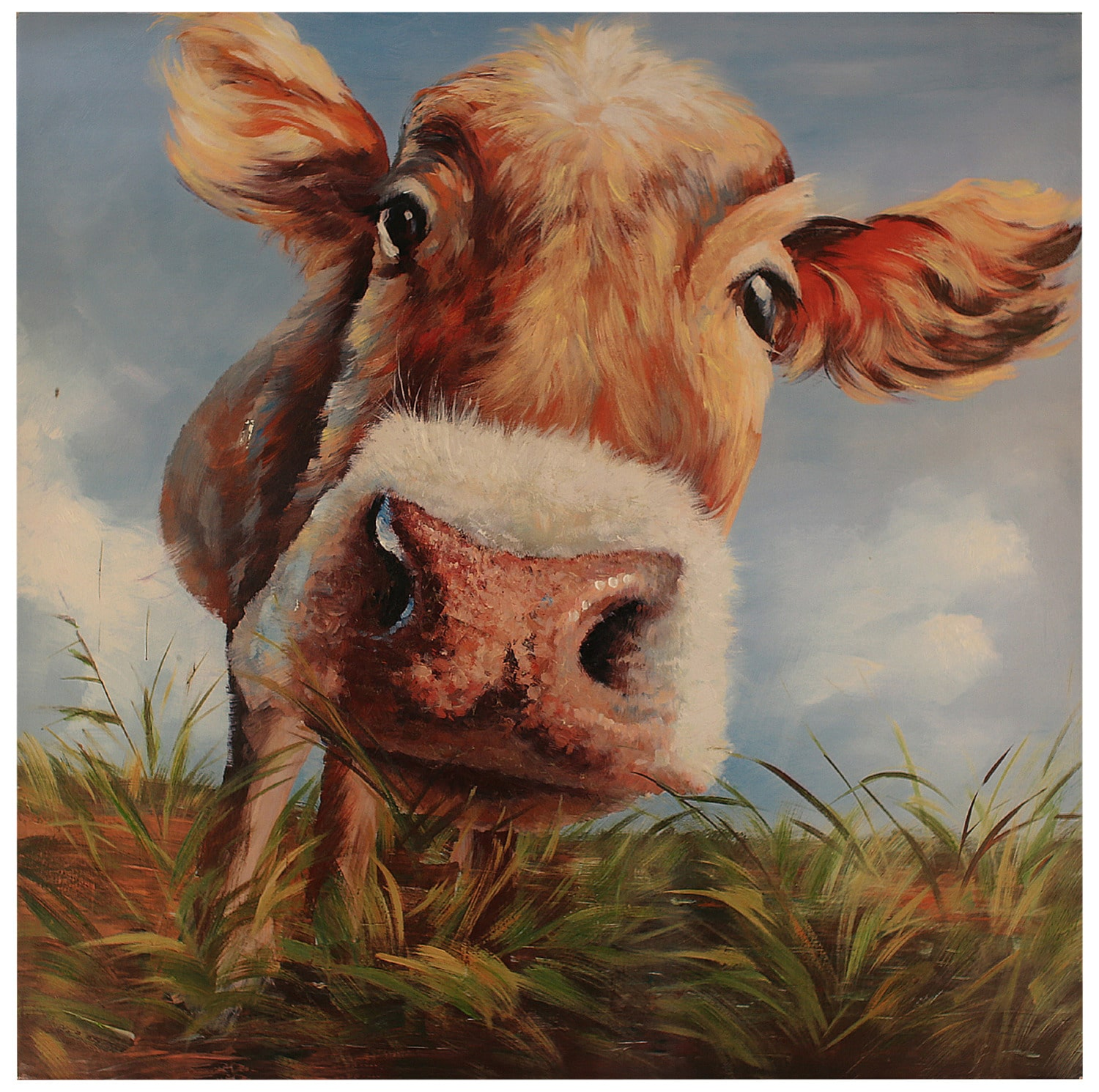 """Accent and Occasional Furniture - Cow Green – 40"""" x 40"""""""