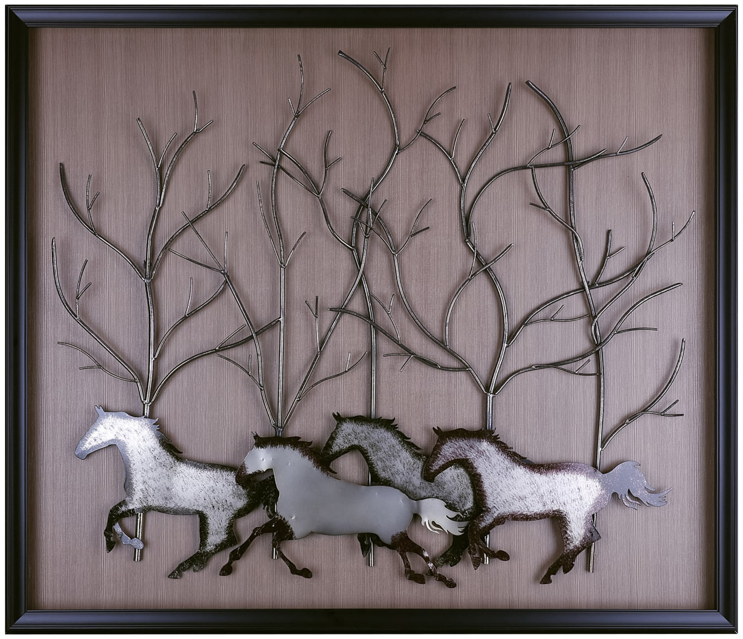"Accent and Occasional Furniture - Running Horses – 50.25"" x 42.75"""