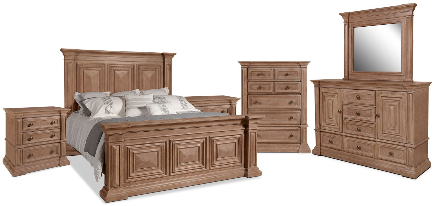 Sedona 8-Piece Queen Bedroom Package