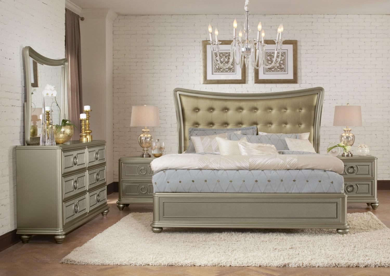 dynasty 5 piece queen bedroom set gold leon 39 s