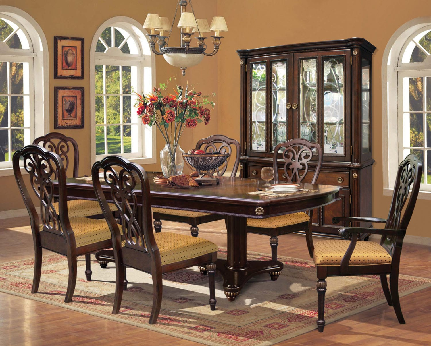 Dining Room Furniture - Newcastle 9-Piece Dining Package