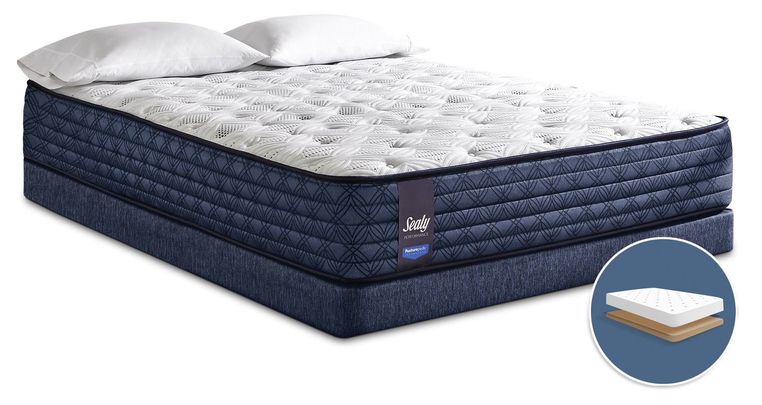 Sealy Posturepedic Monza Tight-Top Firm Low-Profile Queen Mattress Set