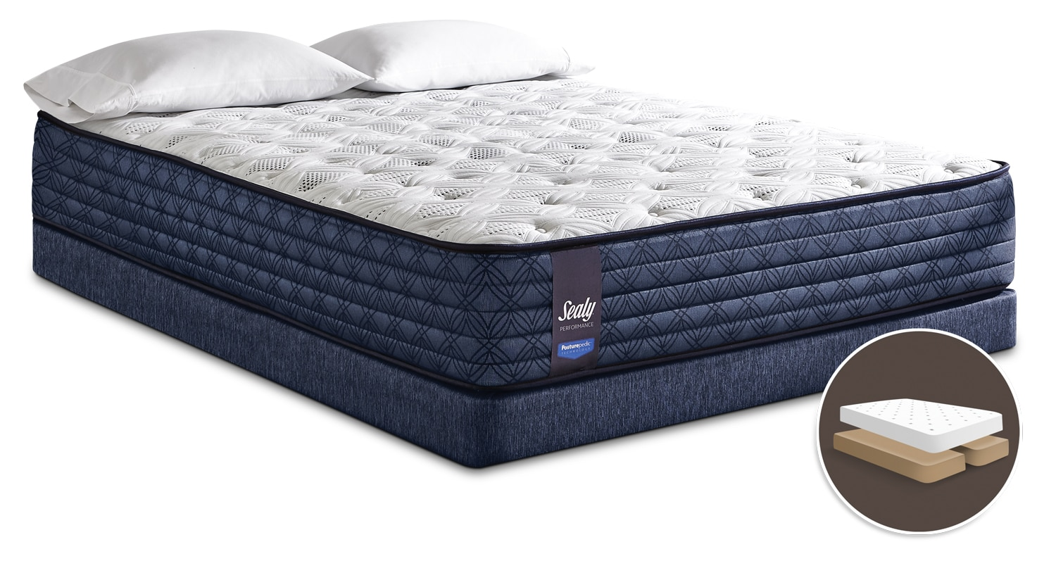 Sealy Posturepedic Performance Monza Tight-Top Firm Split Queen Mattress Set