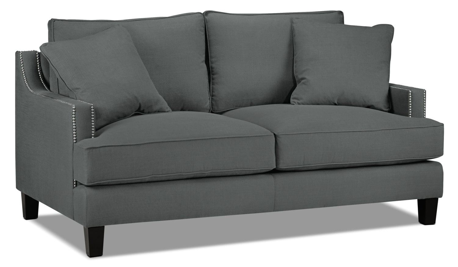 Living Room Furniture - Jules Loveseat - Charcoal