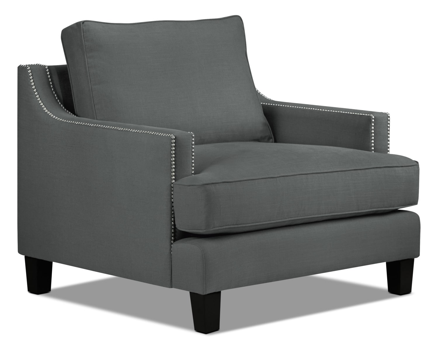 Living Room Furniture - Jules Chair - Charcoal