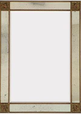 Cienta Mirror - Antiqued Gold
