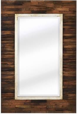 Cobian Wall Mirror - Pieced Wood