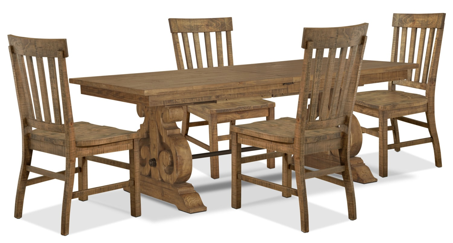 Keswick 5 piece dining package the brick for Dining room tables the brick