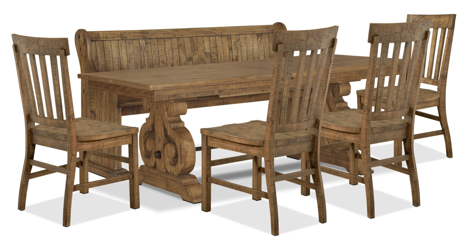 Dining Room Furniture - Keswick 6-Piece Dining Package