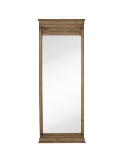 Merrell Leaner Mirror - Natural Wood