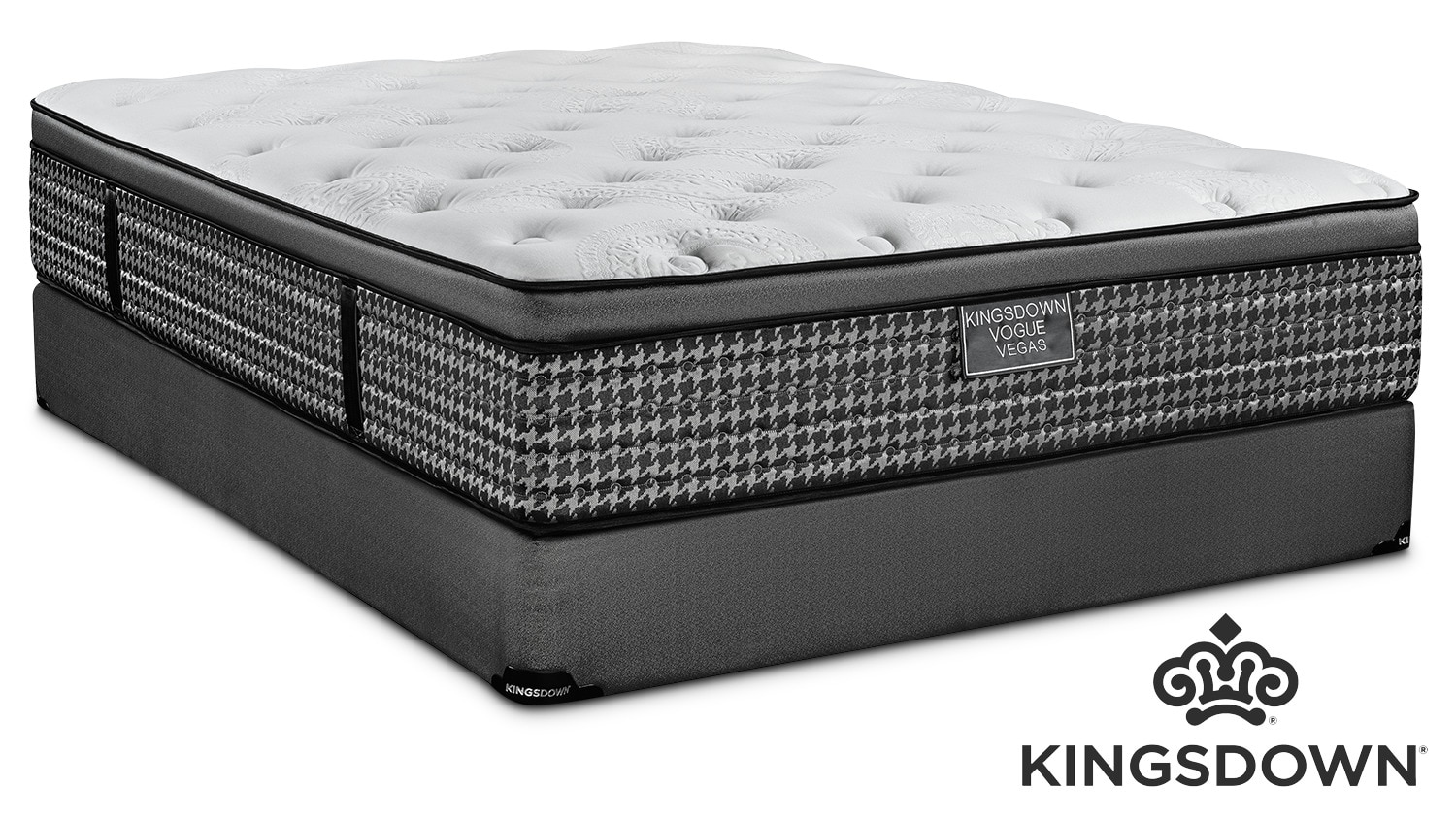 Kingsdown Vegas Cushion Firm Queen Mattress and Boxspring Set