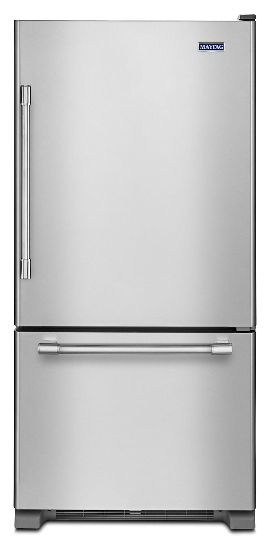 Réfrigérateurs et Congélateurs - Réfrigérateur Maytag de 19 pi³ à congélateur inférieur – MBR1957FEZ