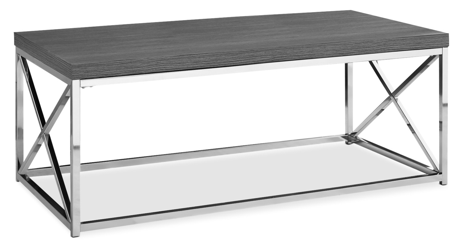 Online Only - Stark Coffee Table - Wood-Grain Grey