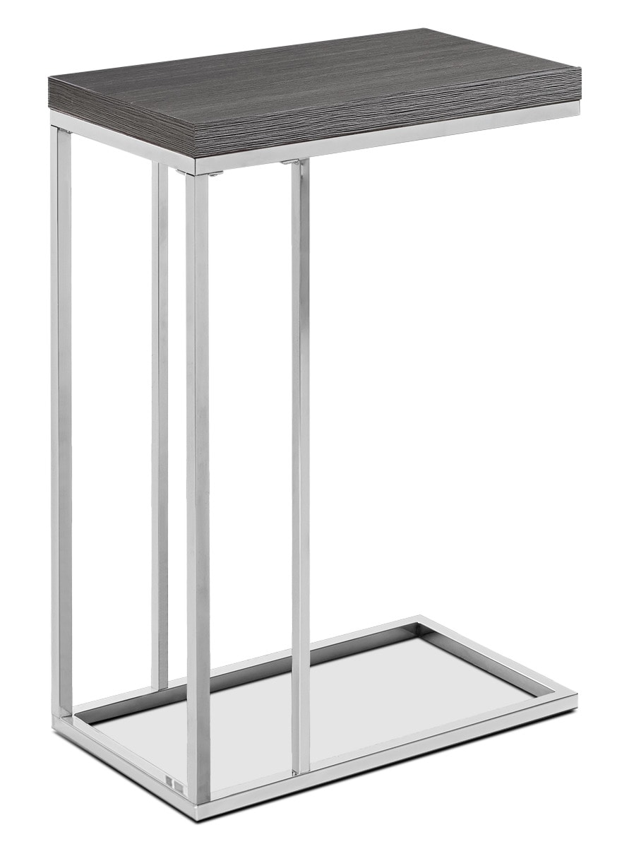 Online Only - Stark Accent Table - Wood-Grain Grey