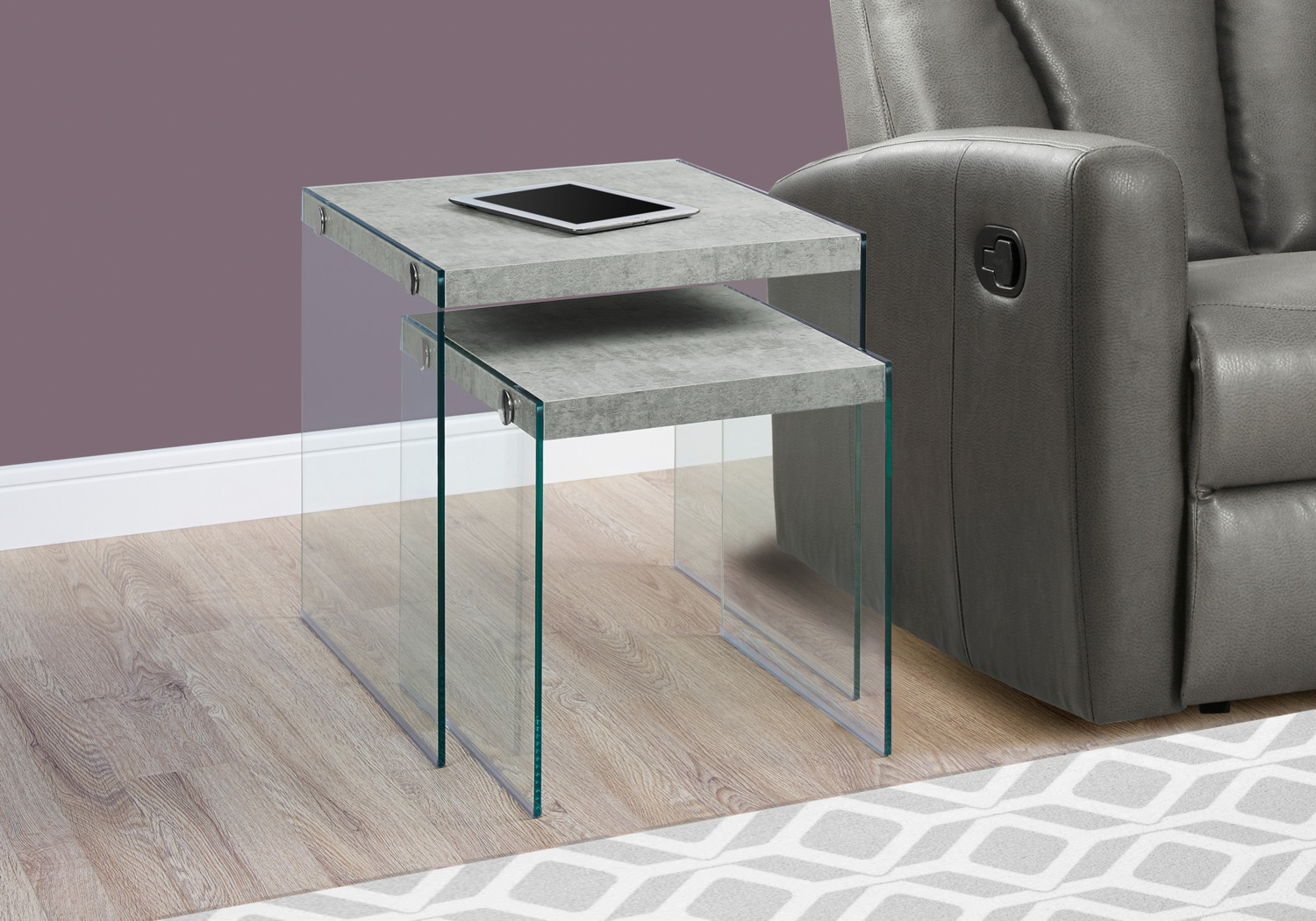 Online Only - Sargent Nesting Tables - Cement