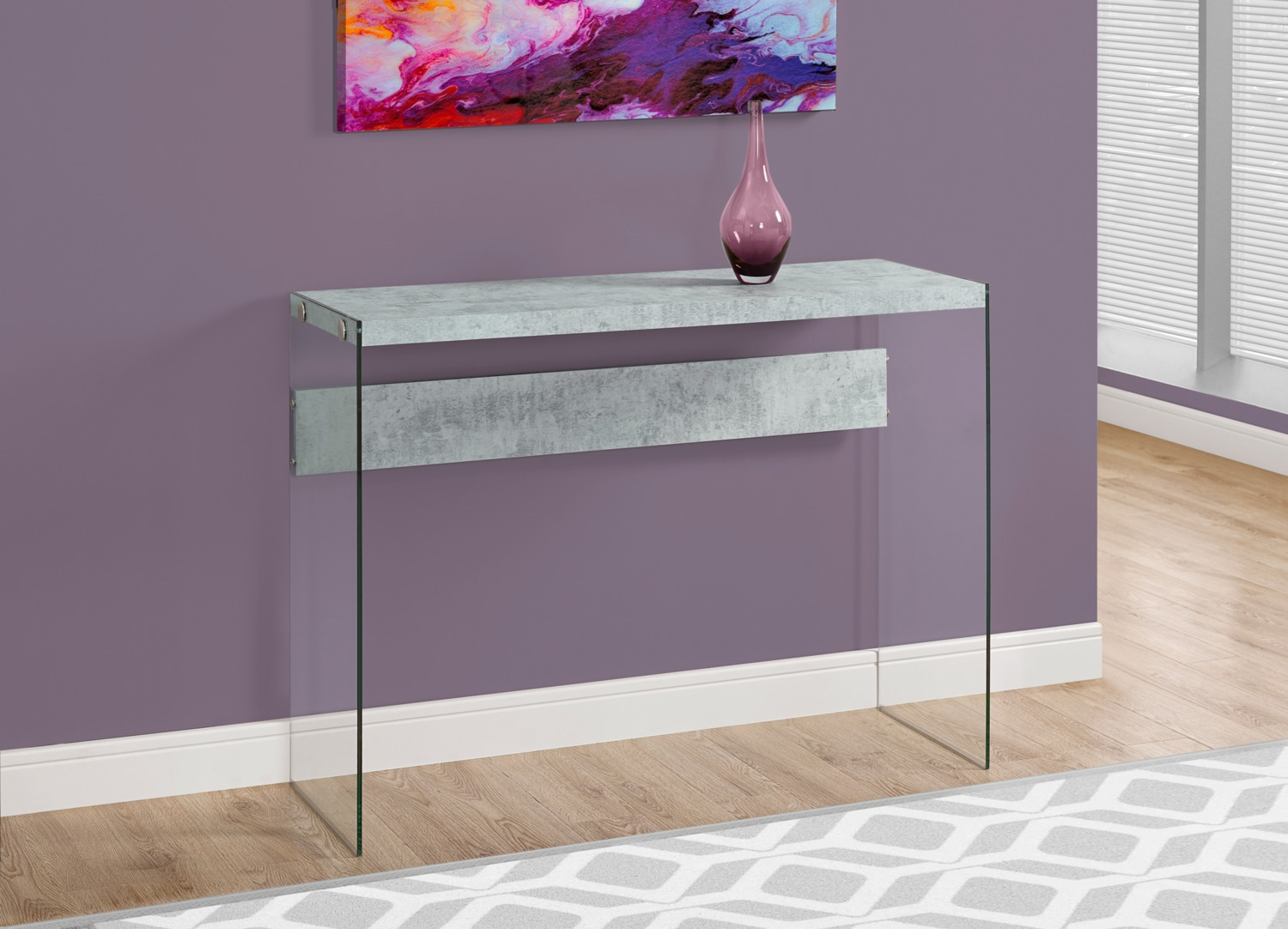 Online Only - Sargent Sofa Table - Cement