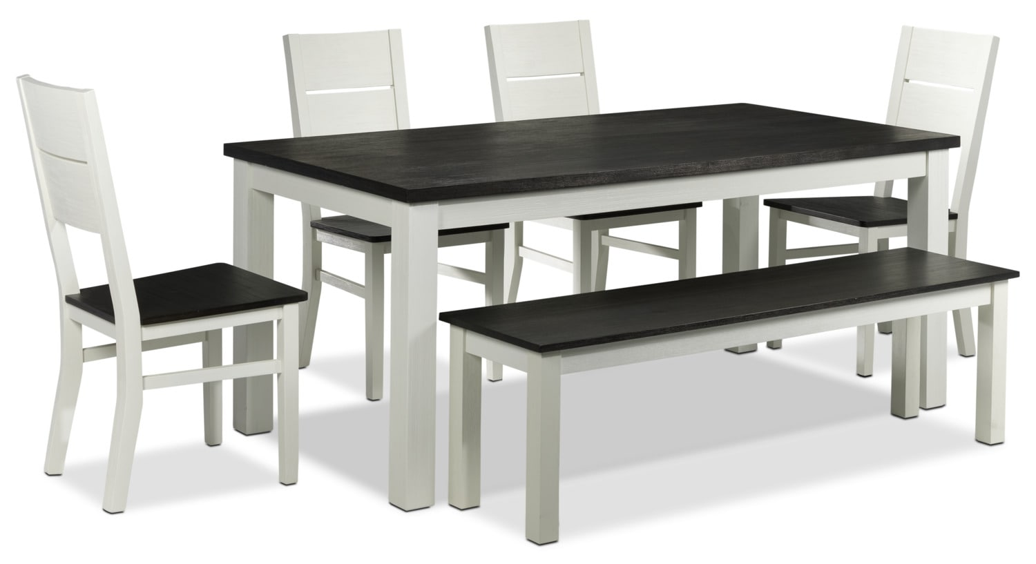 Alliston 6-Piece Dinette - White and Dark Brown
