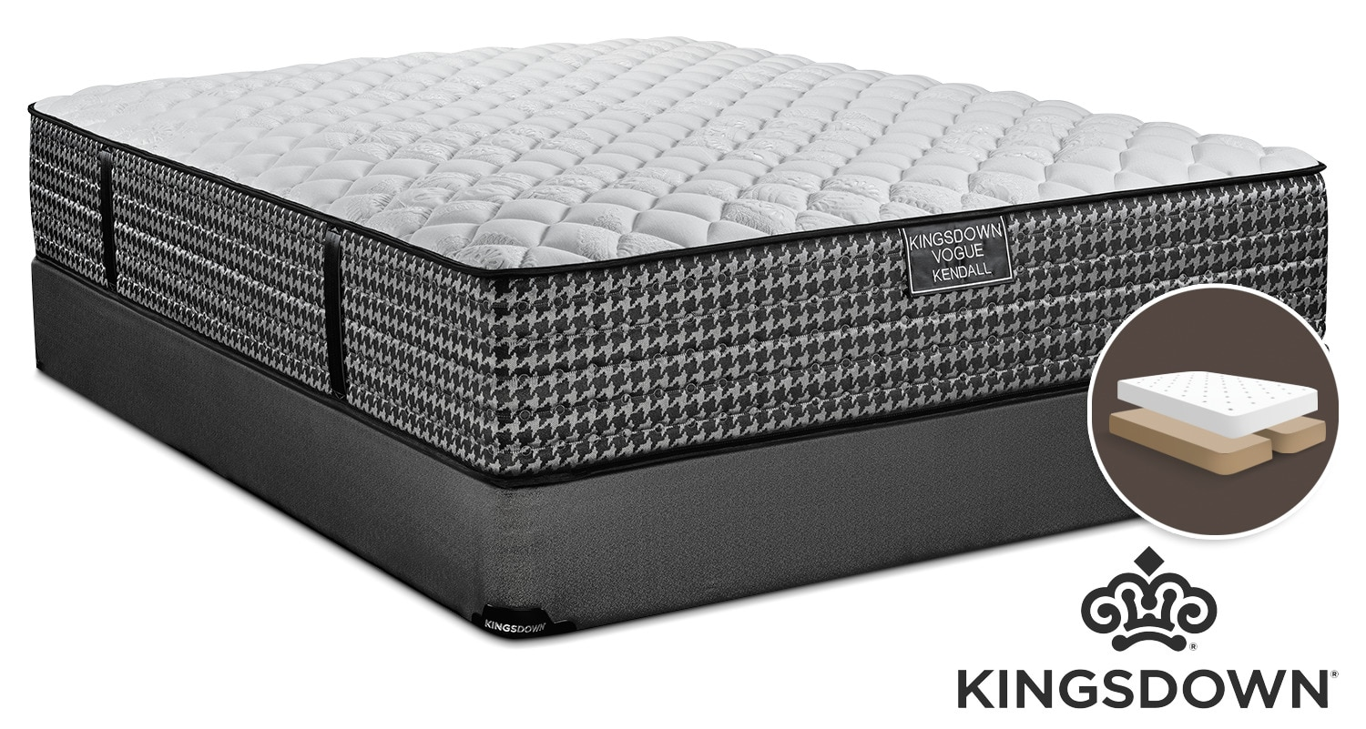 Kingsdown Kendall Firm King Mattress and Split Boxspring Set