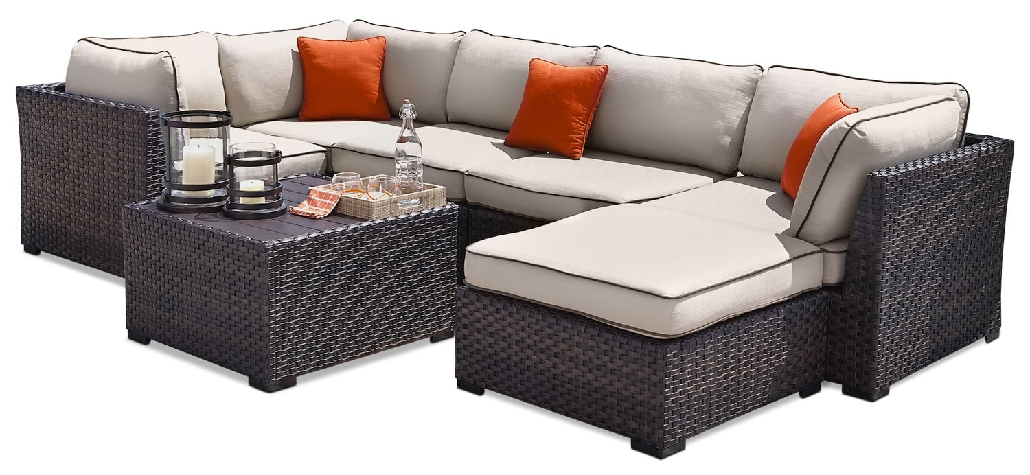 Outdoor Furniture - Renway Patio Sectional Set