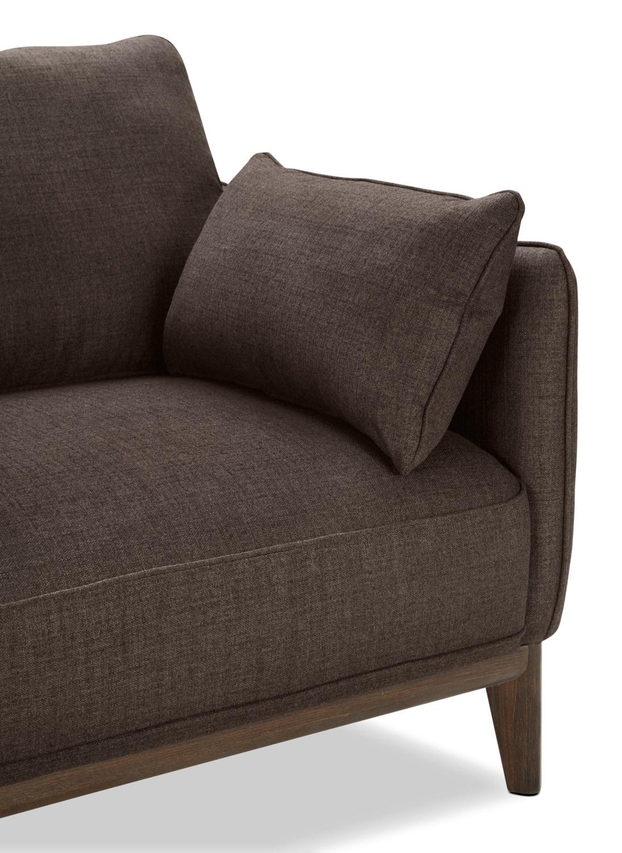 Sofa sectionnel de gauche gena 2 pi ces en tissu d for Sofa sectionnel en liquidation
