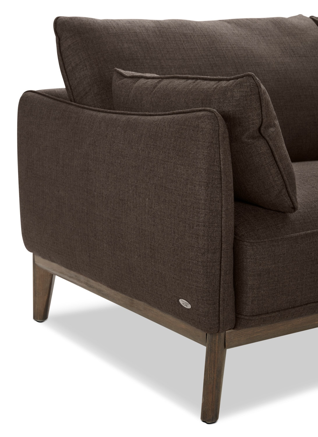 Gena 2 Piece Linen Look Fabric Right Facing Sectional