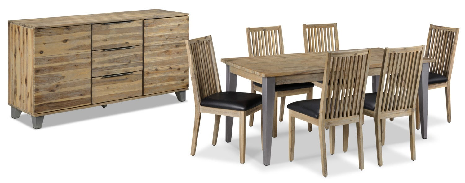 The Carolyn Collection - Oak and Grey
