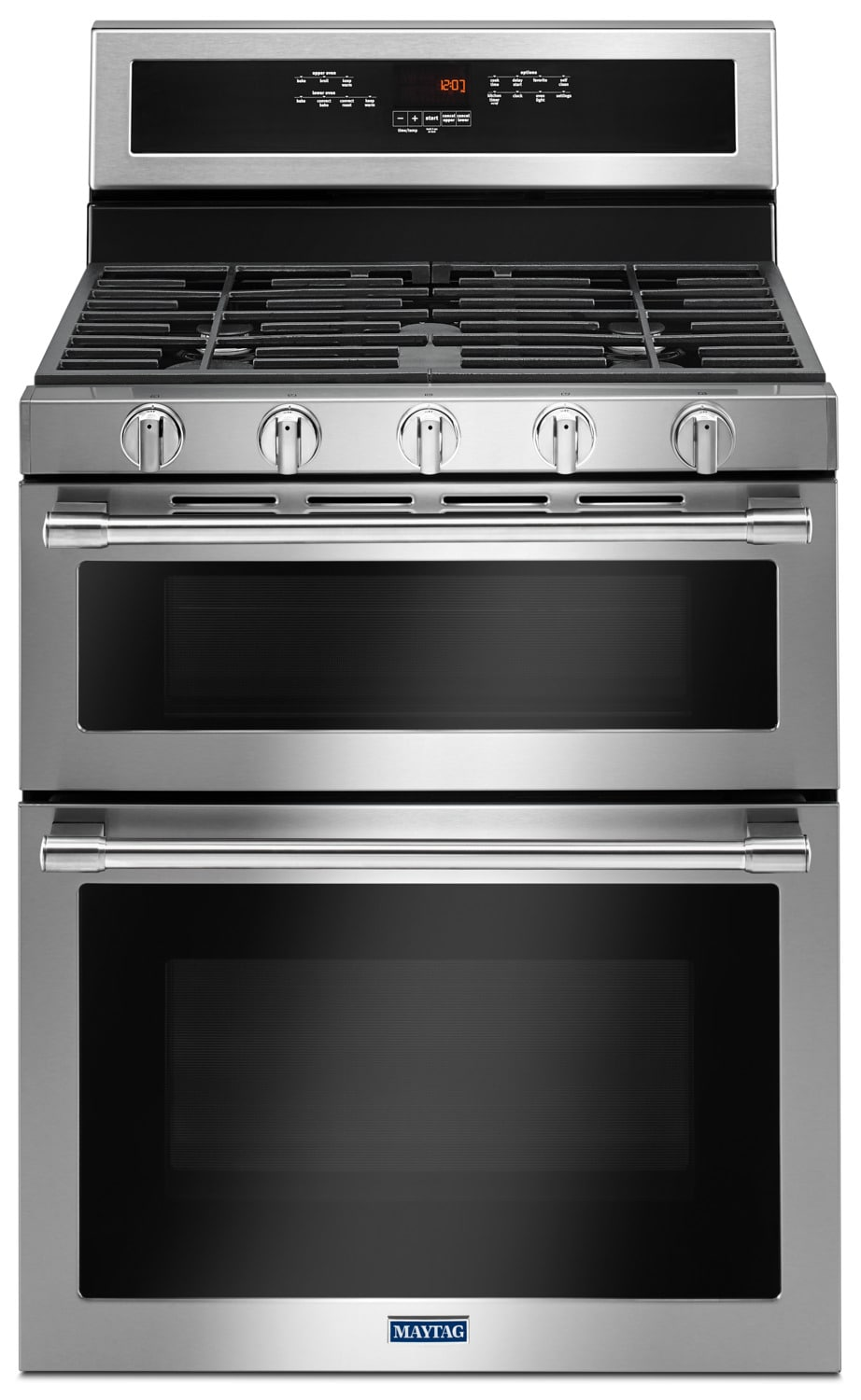 Cooking Products - Maytag Stainless Steel Freestanding Gas Double Oven (6.0 Cu. Ft.) - MGT8800FZ