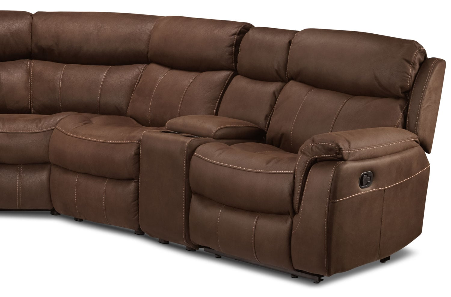 Vaquero 7 piece reclining sectional saddle brown leon39s for 7 piece sectional sofas
