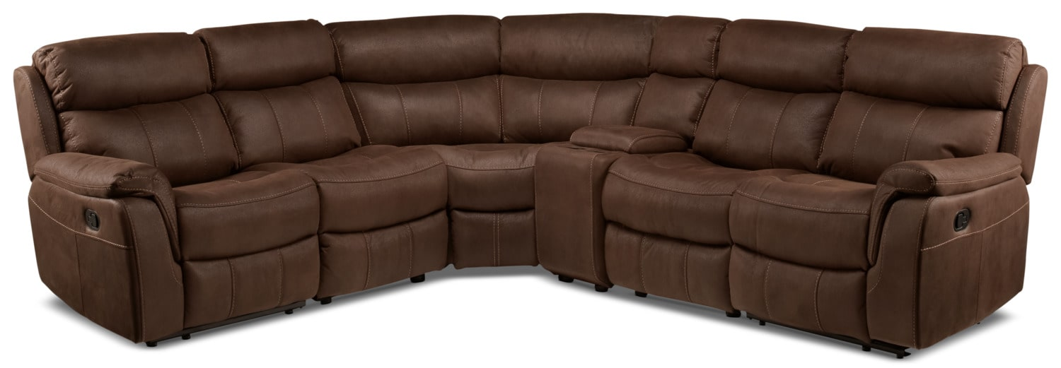 Vaquero 6-Piece Reclining Sectional - Saddle Brown
