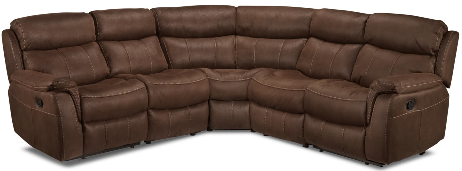 Vaquero 5-Piece Reclining Sectional - Saddle Brown