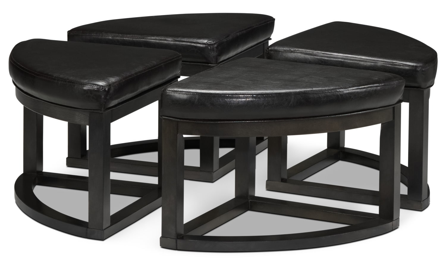 Emma coffee table w four ottomans charcoal grey leon 39 s for Charcoal coffee table