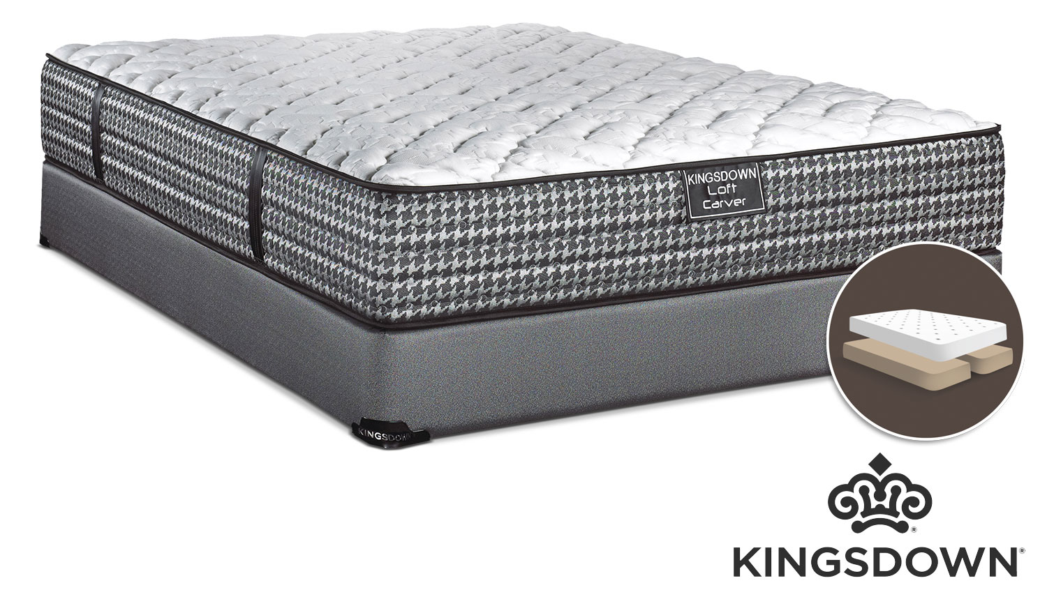 Mattresses and Bedding - Kingsdown Carver King Mattress/Boxspring Set