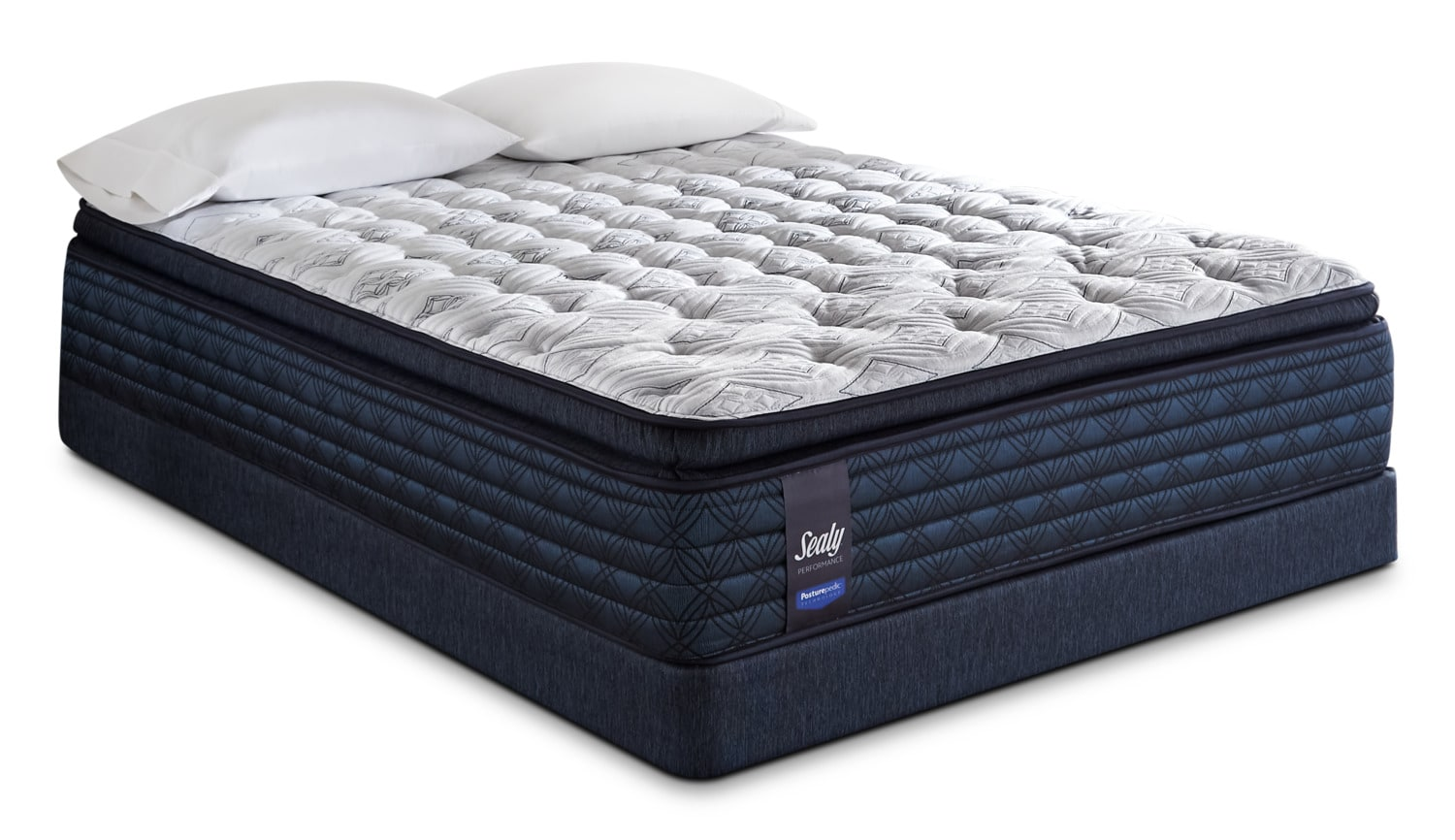 Mattresses and Bedding - Sealy Posturepedic Hillshire Pillow-Top Plush Queen Mattress Set