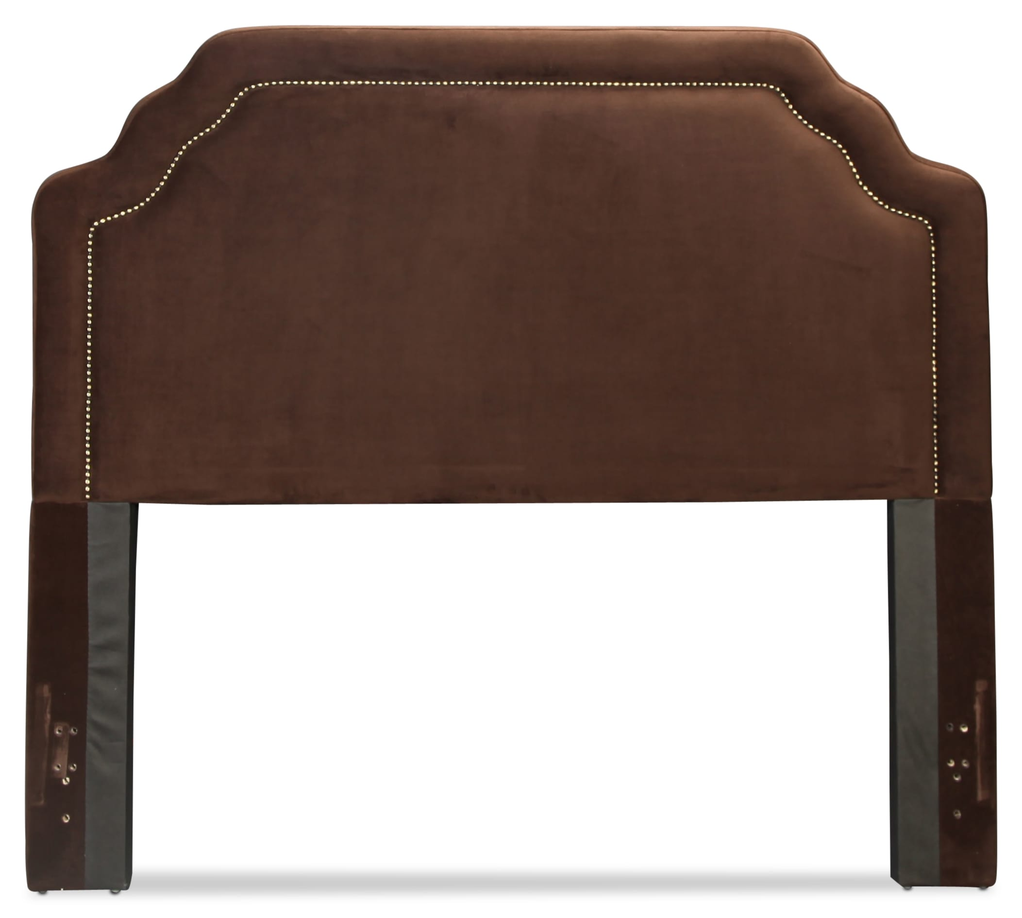 Carlyle Queen Fabric Headboard - Chocolate