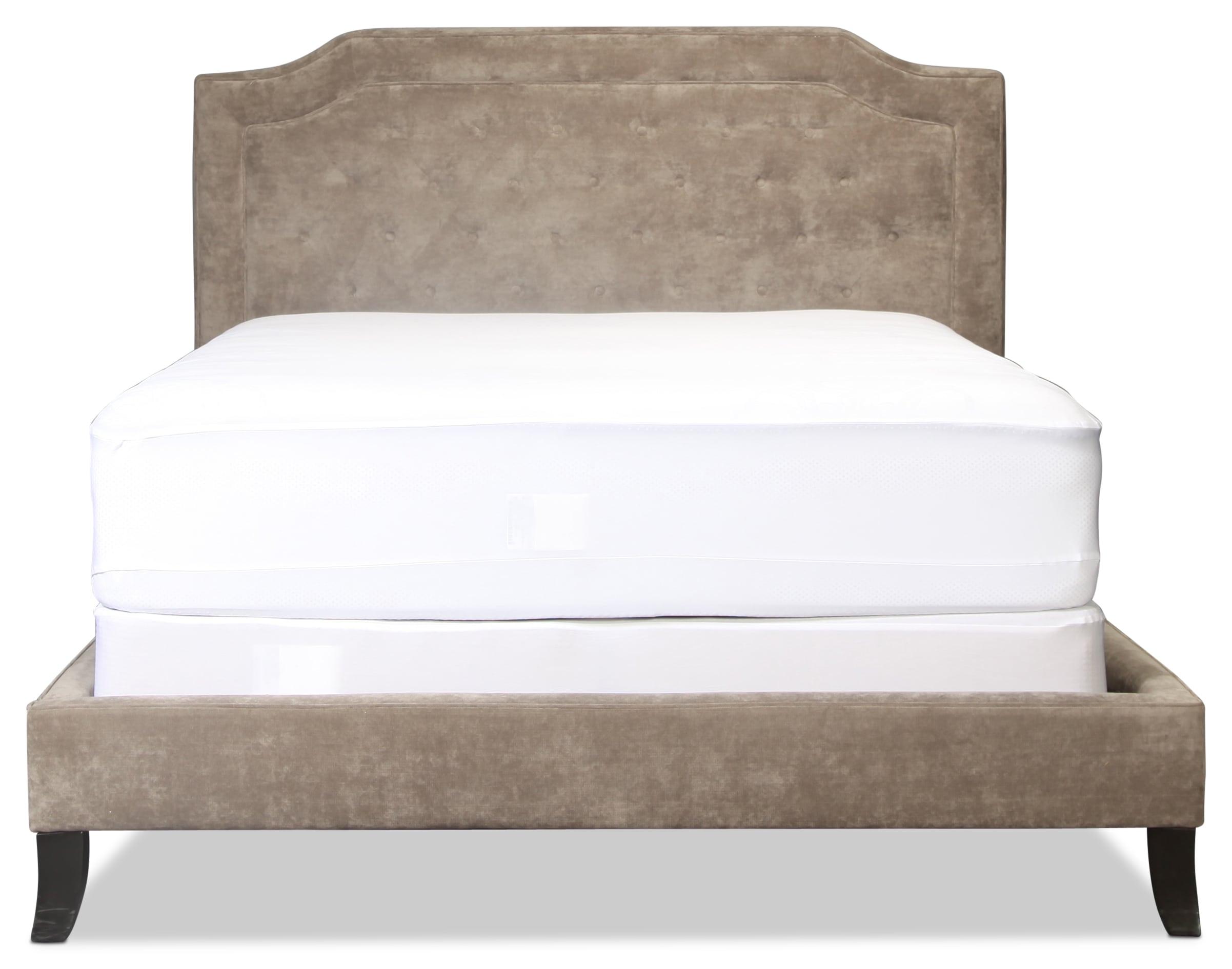 Bardot Queen Bed - Vintage Gray