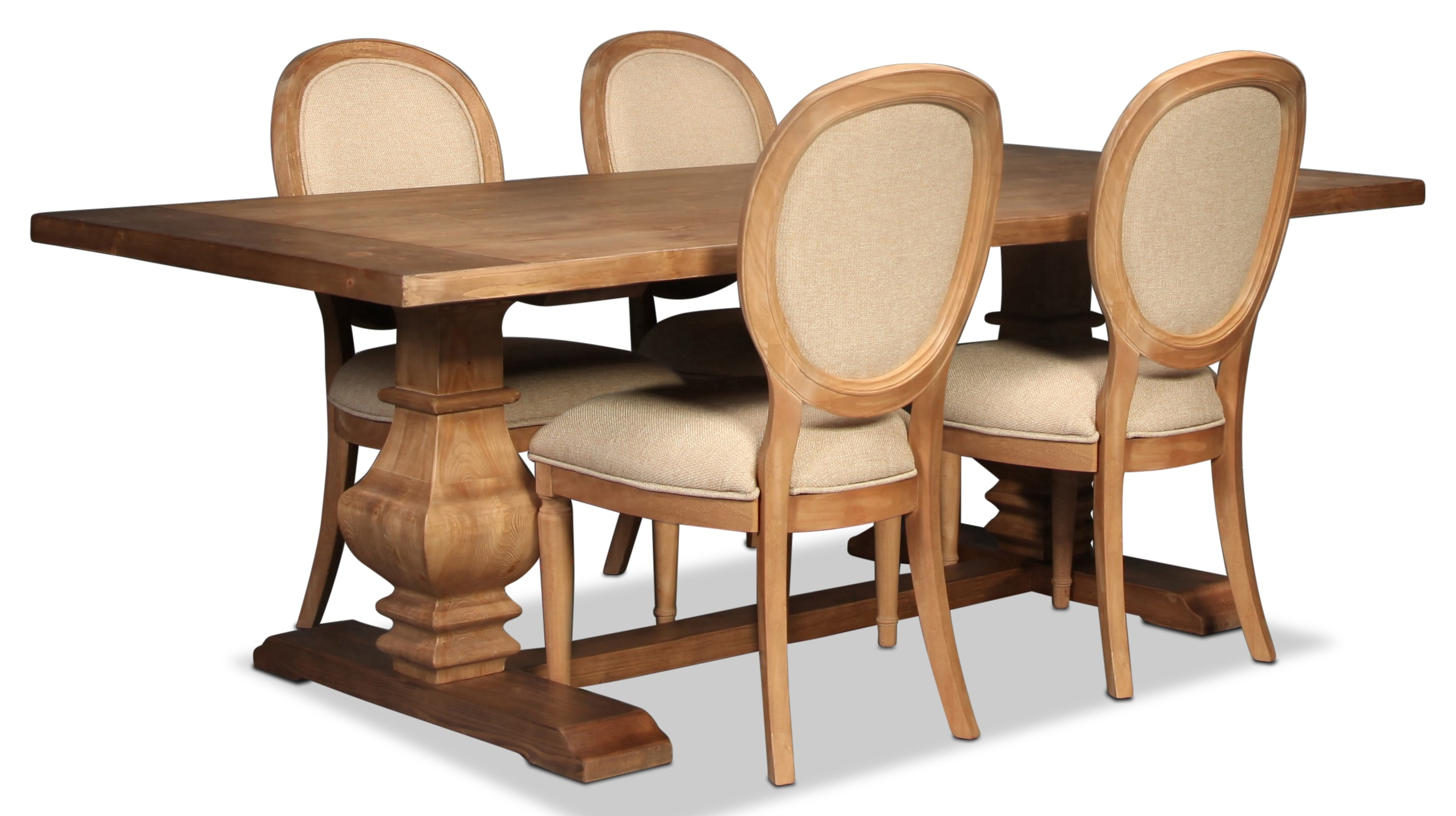 Sable Table and 4 Side Chairs