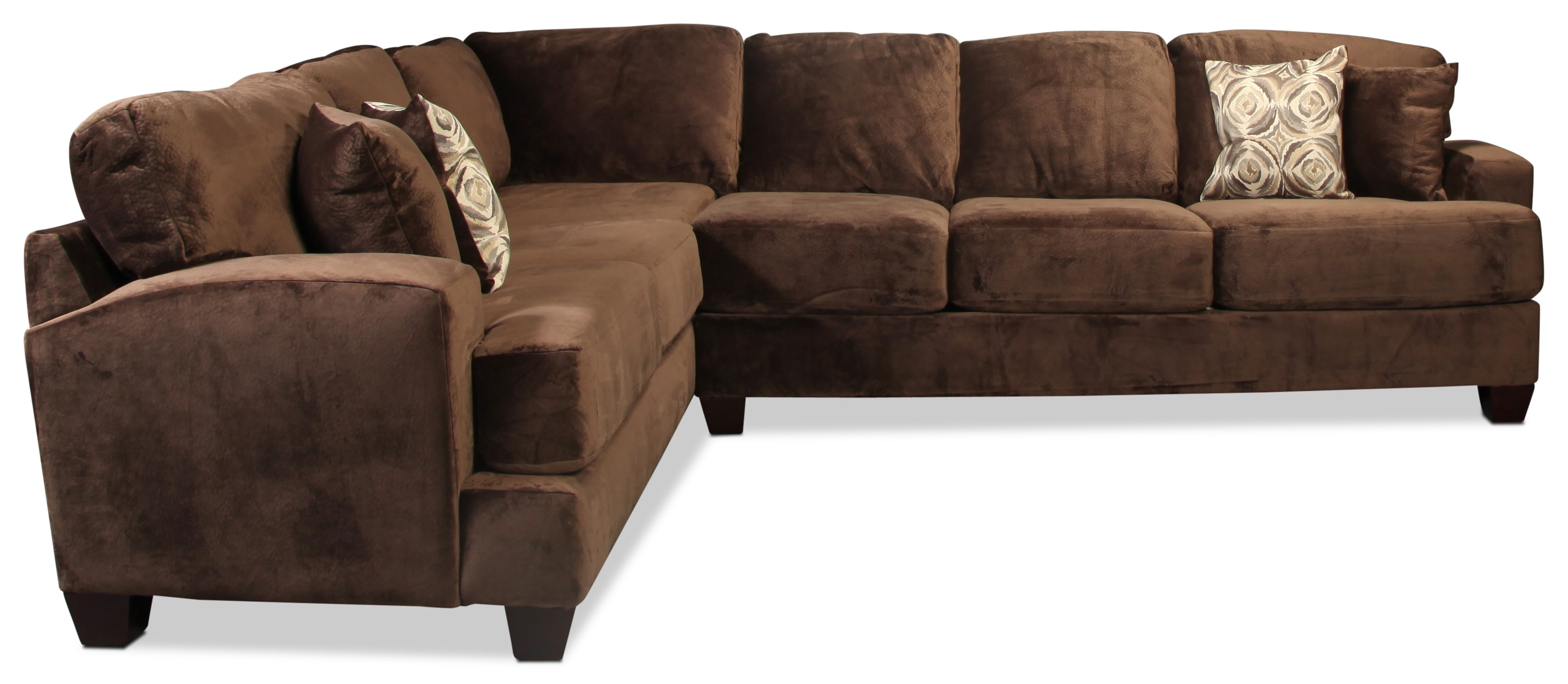 Montclaire 2 Piece Sectional - Chocolate