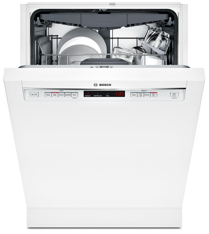 """Bosch White 24"""" Dishwasher - SHEM63W52N"""