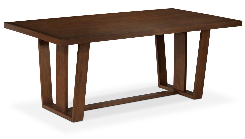 Zee table dark oak leon 39 s - Dark oak dining tables ...