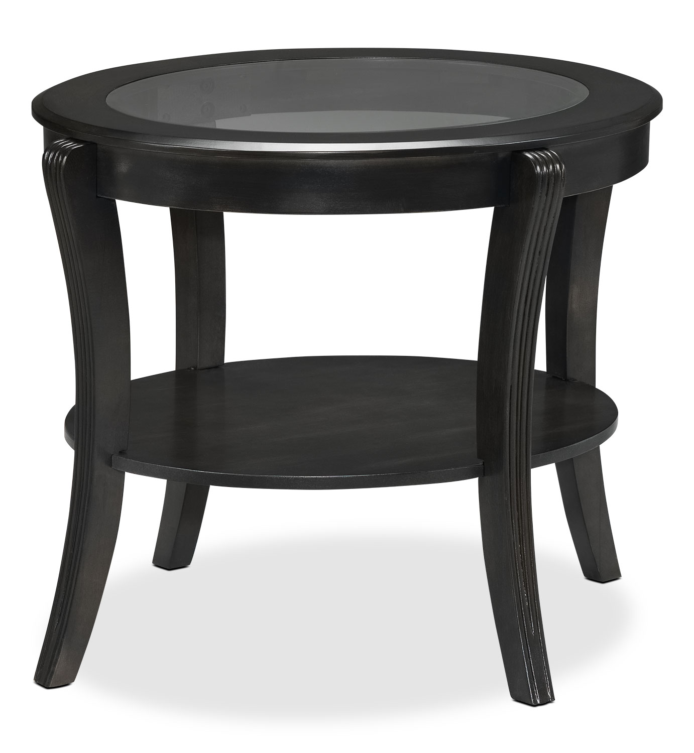 Theo End Table - Charcoal Grey