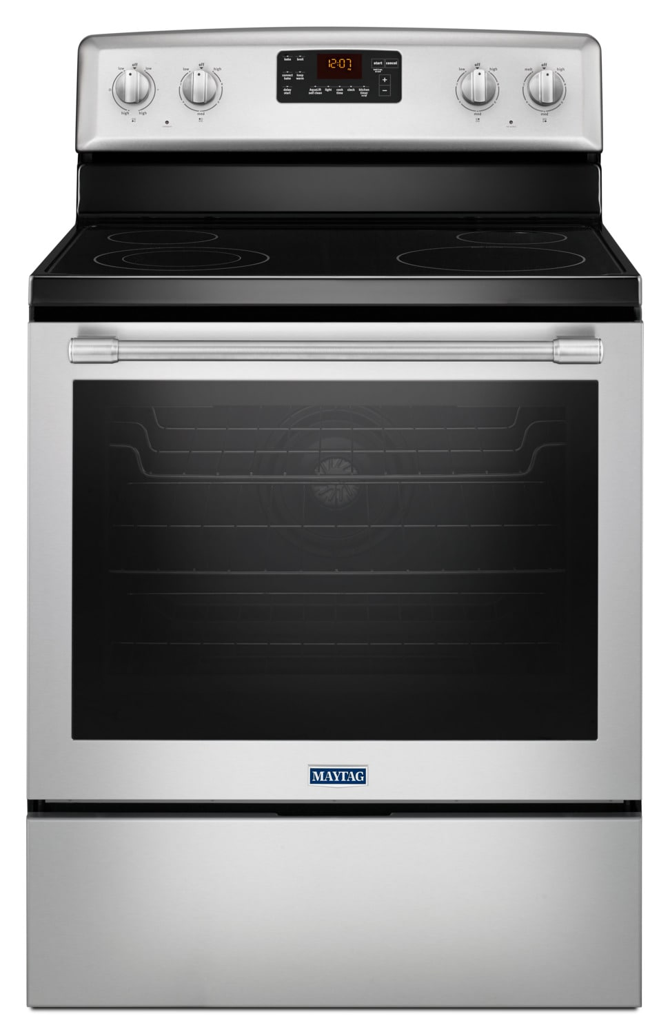 Maytag Stainless Steel Freestanding Electric Convection Range (6.4 Cu. Ft.) - YMER8650FZ