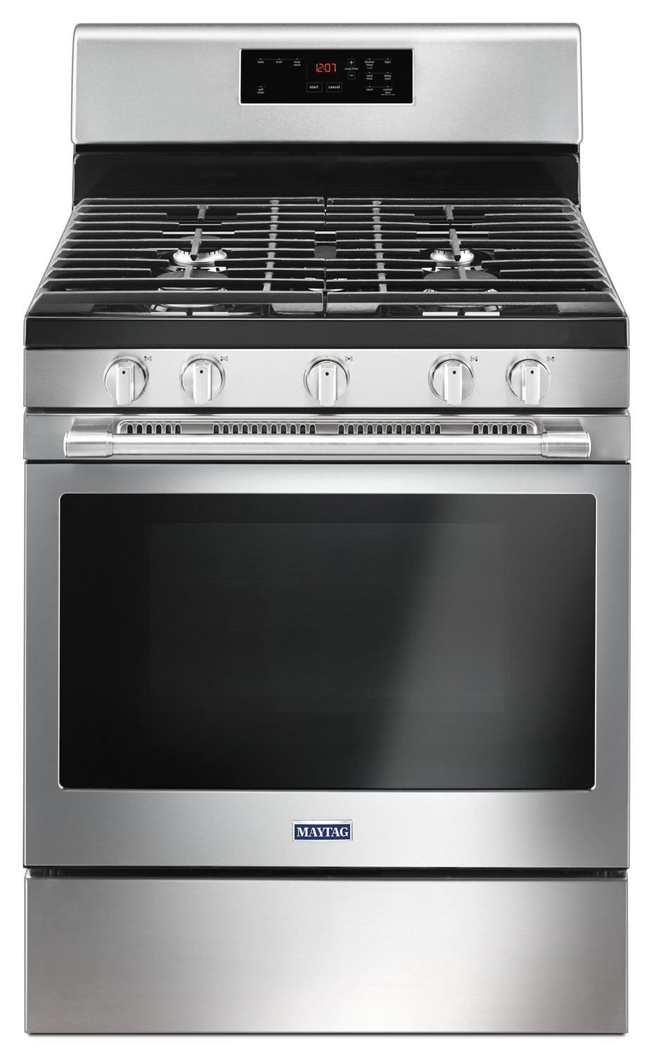 Maytag Stainless Steel Freestanding Gas Range 5 0 Cu Ft