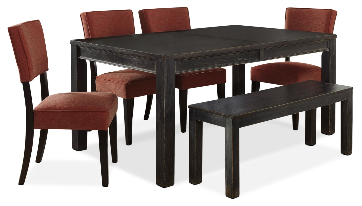 Dining Room Furniture - Gavelston 6-Piece Dining Package – Red