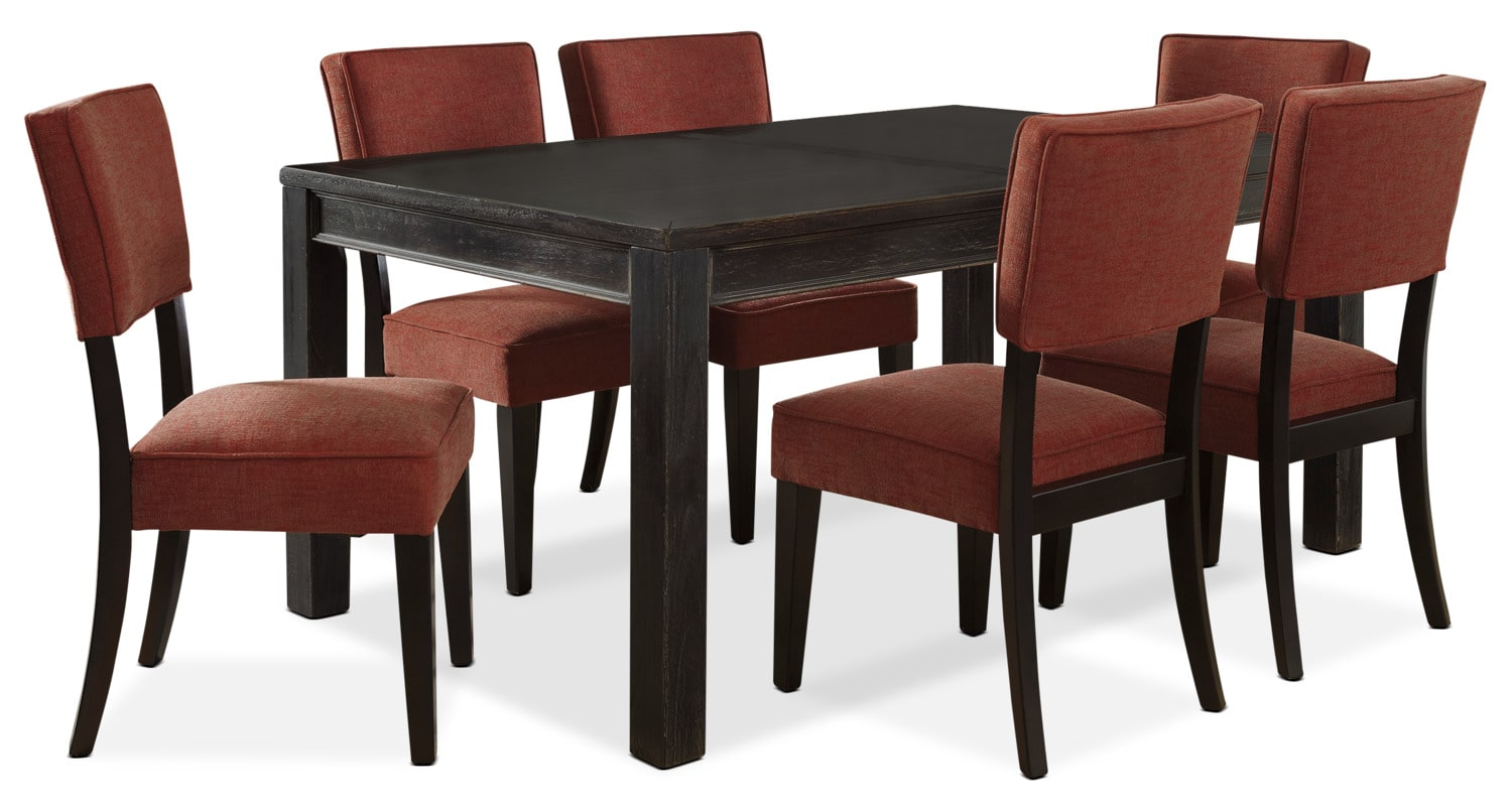 Gavelston 7-Piece Dining Package – Red
