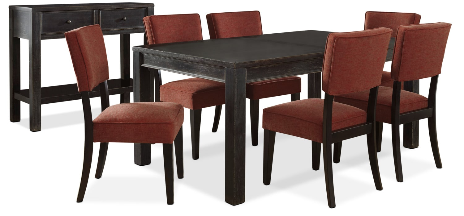 Gavelston 8-Piece Dining Package – Red