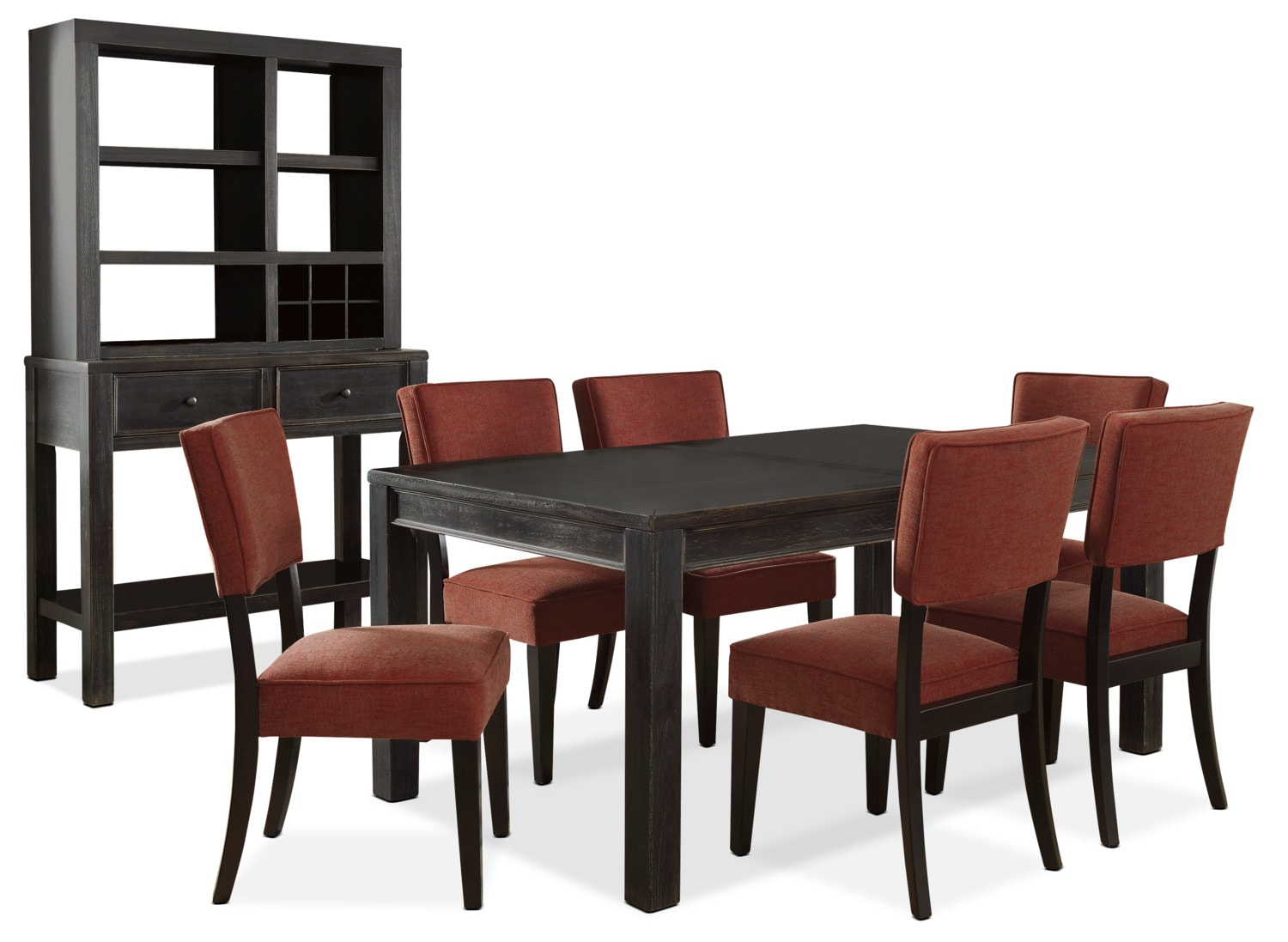 Gavelston 9-Piece Dining Package – Red