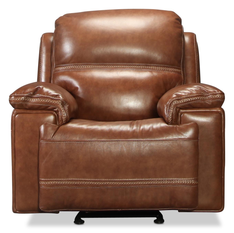 Diego Glider Recliner Whiskey Levin Furniture