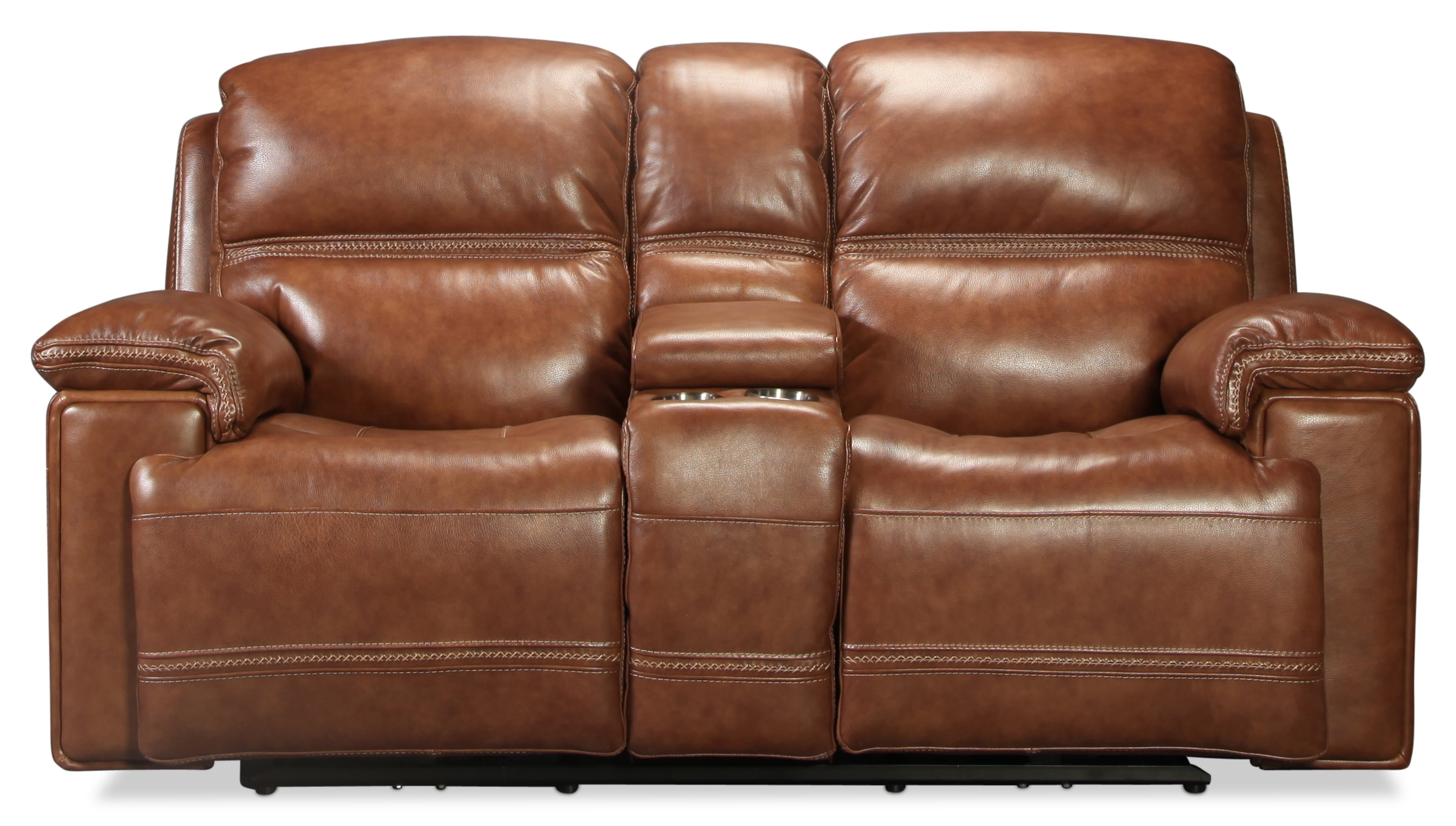 Diego Loveseat with Console - Whiskey